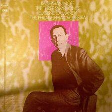 "RACHMANINOFF ""THE THREE SYMPHONIES"" (ORMANDY) 3 LPS PREMIUM QUALITY USED LP NM"