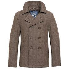 Brandit PEA Coat marino deseado abrigo chaqueta invierno hombre Caban corto Marrón Heri XL
