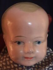 "Wonderful Made In Germany, Tin Or Metal Head Baby Boy, 11"", Antique Costume"