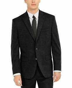 Club Room Men's Twill Suit Jacket 38S Classic-Fit Stretch  Blazer Black NEW