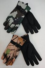 Lot of 48 Pairs Mens Hardwood Army Camo Camouflage Winter Snow Ski Gloves