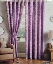 Cayan strisce viola lavanda Ready Made Tende 66X72 pollici Anello Top