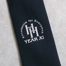 EXCELLENCE FOR EVERYONE HH YEAR XI TIE NAVY VINTAGE RETRO 1980s 1990s CORPORATE