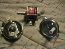 3 antique ice fishing reels unknown makes