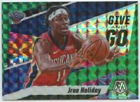 2019-20 Panini Mosaic Jrue Holiday Give and Go Green Reactive Prizm #5
