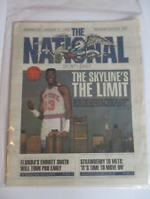 PATRICK EWING THE NATIONAL NEWSPAPER 1/31 1990 PREMIERE EDITION NEW YORK