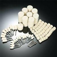 129pcs Felt Polishing Buffing Pads Wheel Wool Plastic Dremel Rotary Tool Kit Set