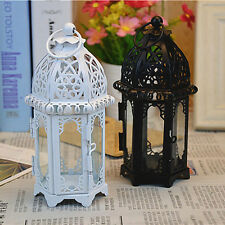 White Chic Moroccan Castle Votive Candle Lantern Holder Wedding Centerpieces New
