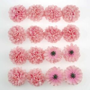 20-100Pc 5cm Daisy Artificial Fake Flower Silk Flower head Heads Wedding Decor