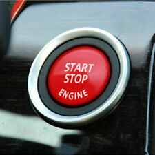 Start Stop Button Switch Ignition Cover Trim Surround For BMW X5 3 5 Series Red