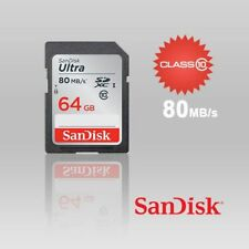 SanDisk 64GB SD SDHC Card - Class 10, Ultra, Up to 80MB/s