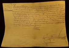 """KING LOUIS XV AUTOGRAPH """"Signed by his hand"""" SALES AUTHORIZATION PATENT - 1722"""
