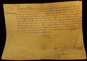 KING LOUIS XV AUTOGRAPH: SALES AUTHORIZATION PATENT 1722 Rey Luis XV de Francia