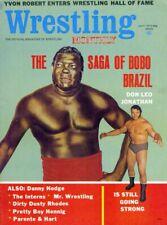 BOBO BRAZIL/DON LEO JONATHAN Wrestling Monthly Magazine July 1972 YVON ROBERT