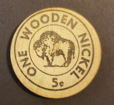 VINTAGE 10c WOOD NICKEL TOKEN / VALE /  EL PATIO / SAN GERMAN  PUERTO RICO
