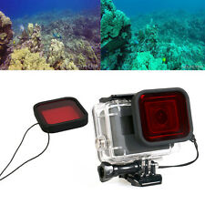 Red Underwater Diving Housing Case Lens Filter For Gopro Hero 5 Black Camera UK