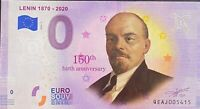 BILLET 0  EURO LENINE 1870 2020  COULEUR  IRLANDE  2019  NUMERO DIVERS