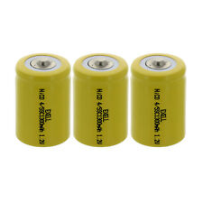 3x Exell 4/5 SubC 1.2V 1200mAh NiCd Button Top Rechargeable Batteries Usa Ship