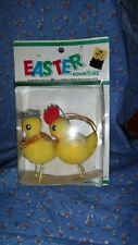 Nos S. S. Kresge Company Easter Novelties Mre Mrs Chick About 3 3/4 Inch High