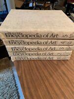 Praeger Encyclopedia of Art, 5 Volumes, 1971, Printed in Holland Ex Library