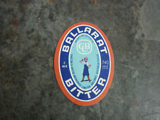 OLD AUSTRALIAN BEER LABEL, BALLARAT BITTER BERTIE 740ml