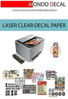 PAPEL para CALCAS al AGUA sin cover-coating, impresora LASER, 3 hojas A4 transp.