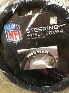 NFL POLY-SUEDE MESH STEERING WHEEL COVER SEATTLE SEAHAWKS