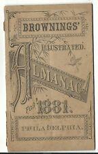 1881 Brownings Illustrated Almanac Clothing Philadelphia PA Artist Illustrations