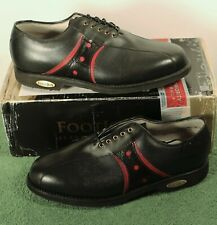 NEW IN BOX Mens 9.0 E W FootJoy Classics Tour Style 51490 Black/Red Golf Shoes