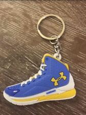 Jordon Basketball Sneaker Shoe Keychain Keyring Gift Blue and Yellow