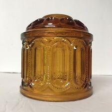 Vintage Deep Amber Glass Lamp Shade  EUC Beautiful