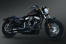 CRUSHER MAVERICK BLACK EXHAUST FOR HARLEY SPORTSTER MODELS 2004-2017