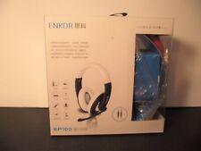 ENKOR EP100 NEW Noise Cancelling Stereo Headphones with Mic - Exceptional Value!