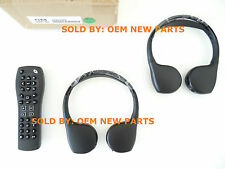 GMC OEM Folding Headphones & Remote for DVD Rear Seat Video Entertainment System