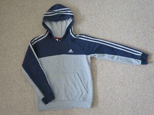 Adidas hoodie hooded top age 9-10 9/10