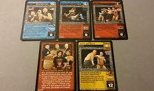 WWE Raw Deal HEAT SEEKERS 5 card starter set Regal Tajiri Carlito Mexicools