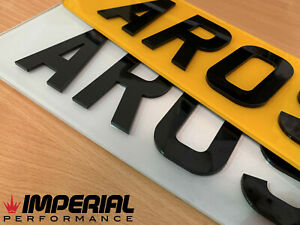 Pair Front & Rear 4D Number Plates *ROAD LEGAL* DVLA registered - laser cut 3mm