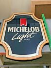 "Vintage Michelob Light Beer Bar Mirror Sign 18"" x 26"" Anheuser Busch"