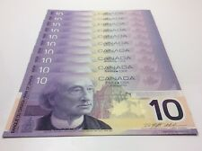 10 2000 Consecutive Uncirculated 10 Ten Dollar FDV Prefix Canada Banknotes C856