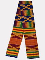 Kente Handwoven Scarf Kente Stole Asante Sash African Textile African Art Cloth