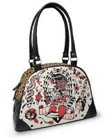 Angebote Liquor Brand Damen EL FIN Handtasche/Bags.Tattoo,Pin up,Biker Style