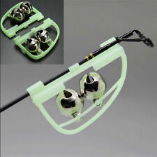 2 X Night Fishing Rod Tip fish Bite Alarm Alert Clip Bells Ring Glow Tools Hot E