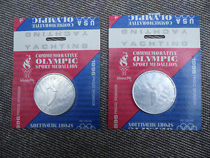 1996 OLYMPICS YACHTING MEDALLION (2) FROM CEREAL BOX