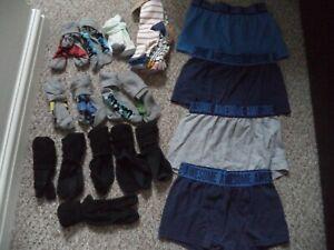 Boys socks and underwear large bundle size 12.5-3.5