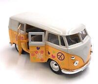 Modellauto VW T1 Love Bulli Bus Love Gelb Auto 1:34-39 (lizensiert)