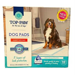 TOP PAW New & Improved Ultra Giant Dog Puppy Pads of Leak Protection 50 NEW LOOK