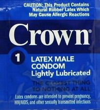 Okamoto Crown Lightly Lubricated Skin Thin Sensitive Condoms 100-Pack