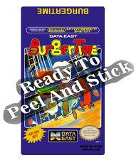Burgertime Nes Cartridge Replacement Game Label Sticker Precut