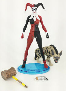 DC UNIVERSE CLASSICS MATTEL 2010 MAD LOVE HARLEY QUINN 6 INCH LOOSE With HYENA