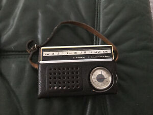 Vega Ruby Transister Radio Watch Made In USSR With Original Black Leather Case